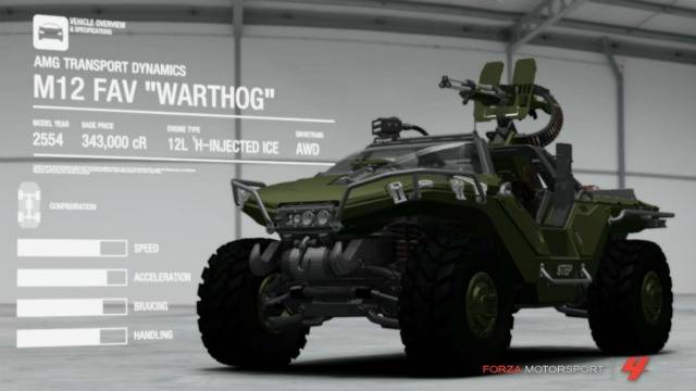 Halo Fest Forza 4 Trailer: The Warthog