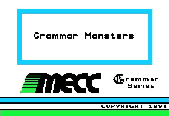 Grammar Monsters