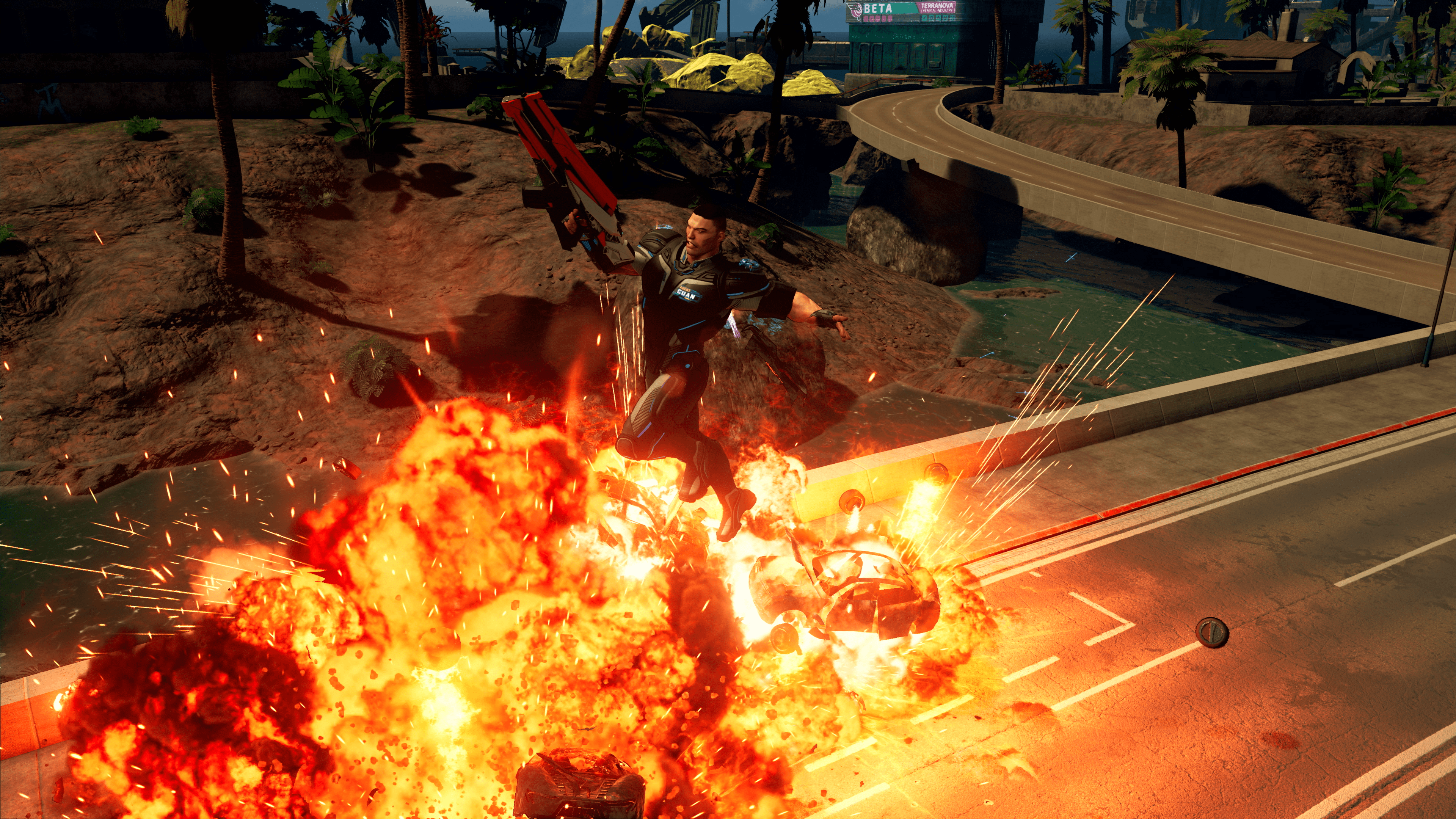 Just go play Crackdown 1 again.